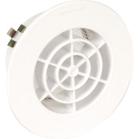 Grille de ventilation intérieures Ø 80 mm- GATM pour tubes PVC et gaines