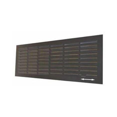 Grille de ventilation Noire 132x338 intérieur, verrouillable/ obturable - 25096FB.