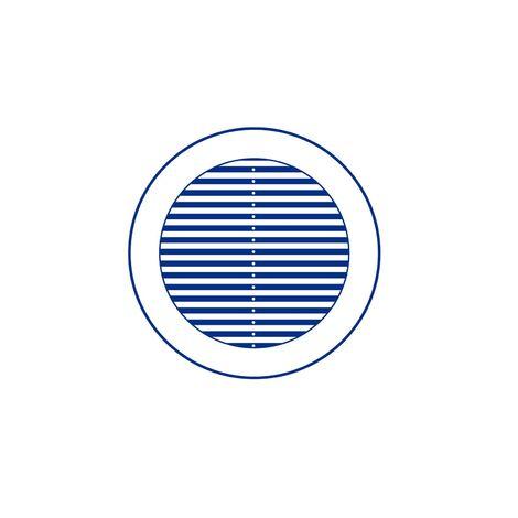 Grille de ventilation ronde avec moustiquaire - Diamètre ext: 175 mm pour tube 110-160