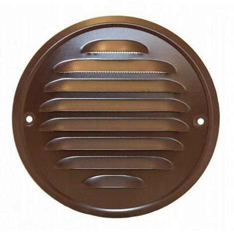 """main image of """"Grille de ventilation ronde vissée 100 bronze"""""""