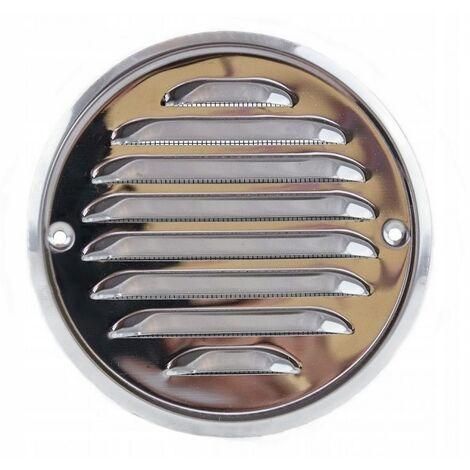 Grille de ventilation ronde vissée en acier inoxyd