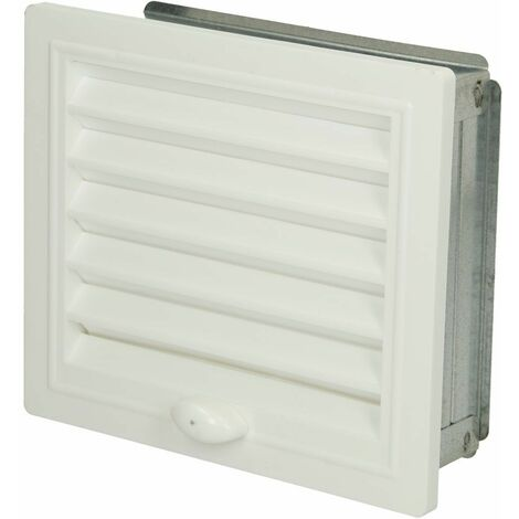 Grille de ventilation Upmann ajustable cadre montage 150 x 150 mm