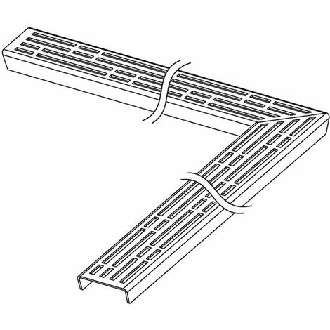 """Grille design TECEdrainline """"basic"""" pour canal coudé 90 degrés, 611010, 1000mm, poli - 611010"""