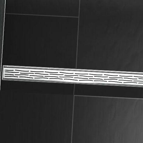 """Grille design TECEdrainline """"bio"""" pour receveurs de douche droits, 6008, 800mm, Exécution: Poli - 600860"""