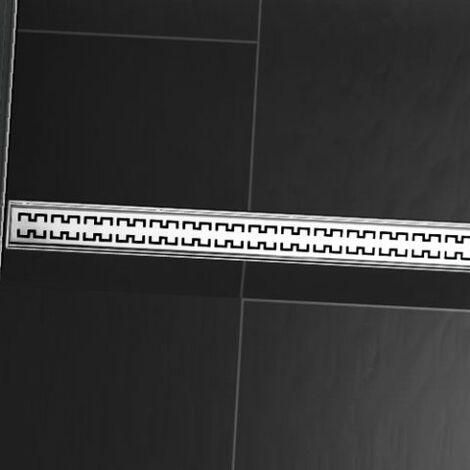 """Grille design TECEdrainline """"royal"""" pour receveurs de douche droits, 6009, 900mm, Exécution: Poli - 600940"""