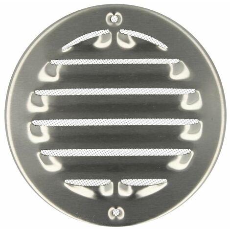 Grille d'intempéries Upmann rond acier inox brossé 100 mm