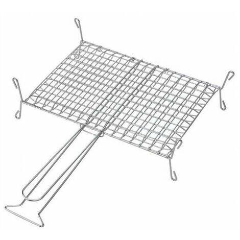 Grille enveloppante sur pied pour cheminée ou barbecue