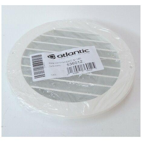 Grille extérieure aluminium blanche circulaire Ø 160mm pas d'ailette de 20mm GAC M 160 ATLANTIC CLIMATISATION 536012
