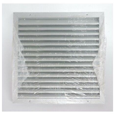 Grille exterieure aluminium carré 400x400mm pour aération / ventilation GAE25 ATLANTIC CLIMATISATION 528548