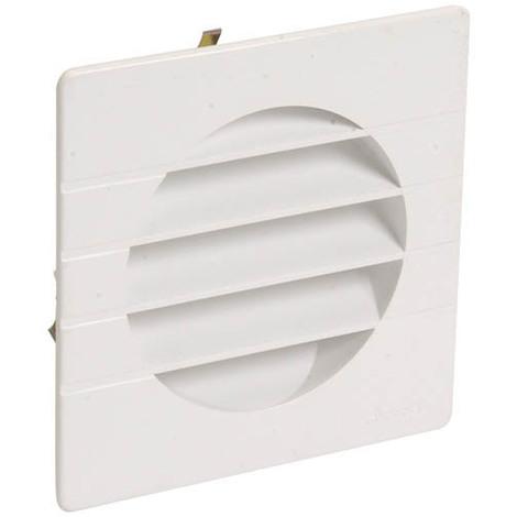 Grille extérieure pour tube PVC O100 blanc