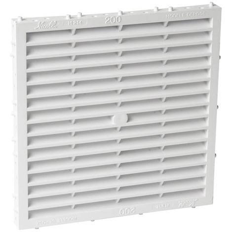 Grille façade carrée à combinaison moust 200cm² blanc