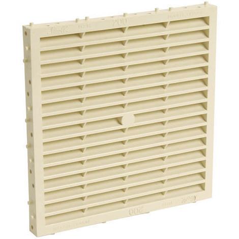 Grille façade carrée à combinaison moust.