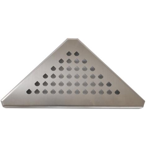 Grille inox 304 GSTRIAN pour caniveau d'angle Docia