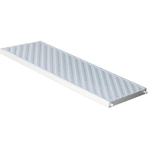 Grille piéton - piscine PVC anti-choc - gris - 200x500mm