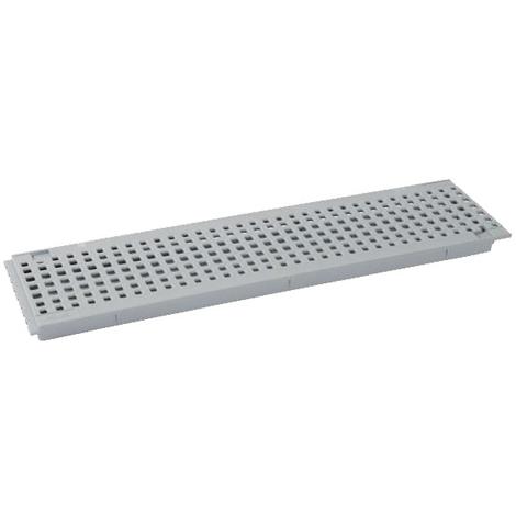 Grille piscine pvc 500mm - pour caniveau CONNECTO 130mm - gris clair