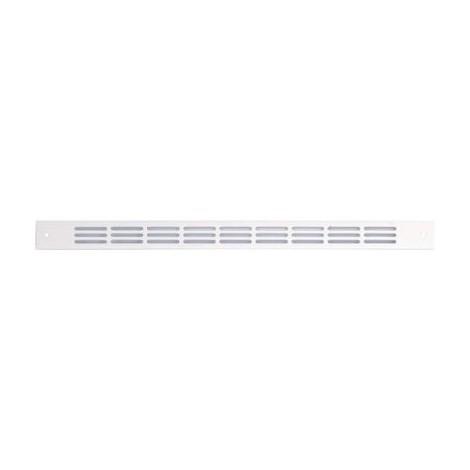 Grille plate alu 478/1 RENSON - 275 mm - blanc ral 9010 - 00047816