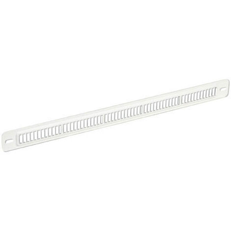 Grille plate mortaise 250x12 max. blanc