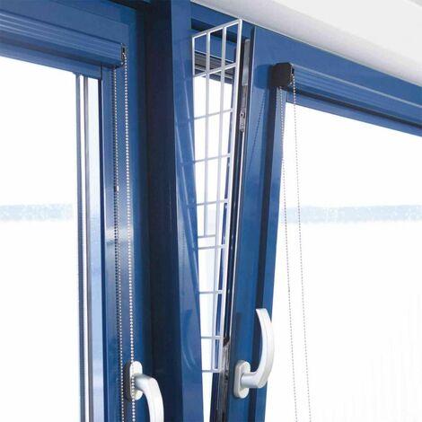 Grille protection fenêtres, panneau latéral - 62 × 16/7 cm, blanc