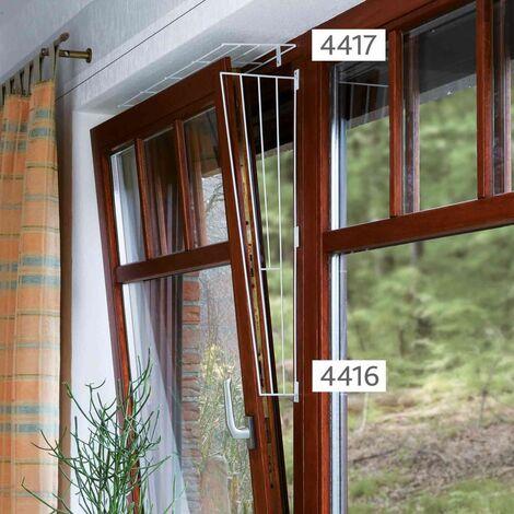 Grille protection fenêtres, panneau latéral - 62 × 16/8 cm, blanc