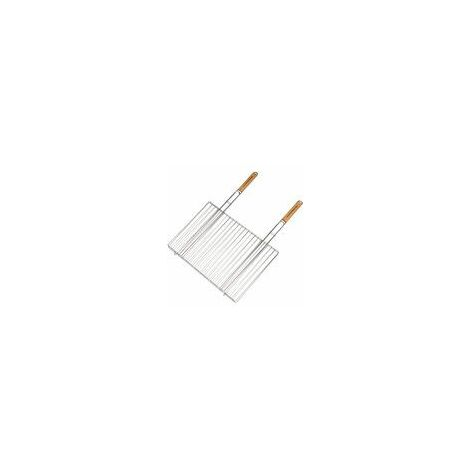 Grille rectangulaire double 54 x 38 cm pour Barbecue