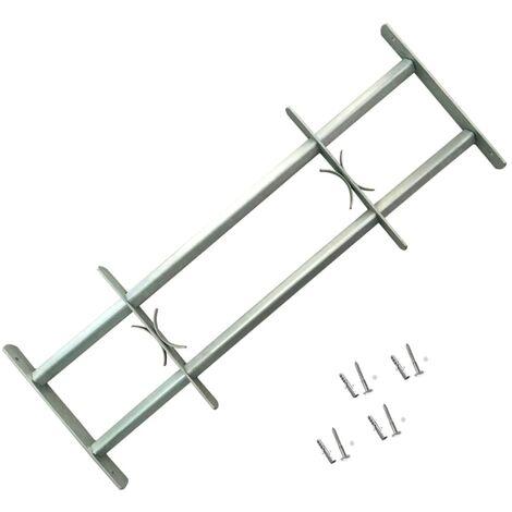 Grille réglable de sécurité de fenêtres et 2 barres 500-650 mm