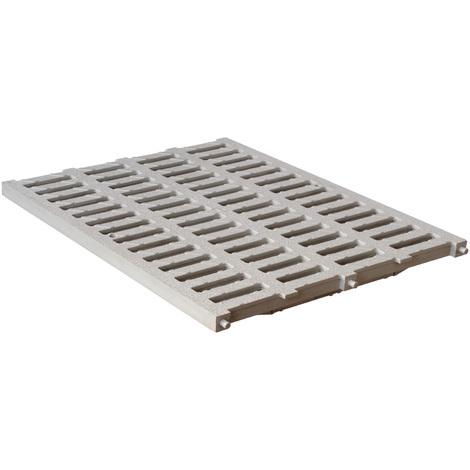 Grille renforcée 53,00KN - PVC anti-choc - Sable - 400x500mm