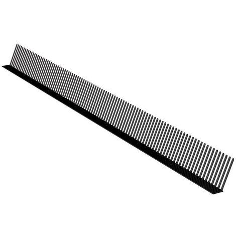 Grille stop piafs NOIRE - Peignes pare-oiseaux 60mm x 1ml