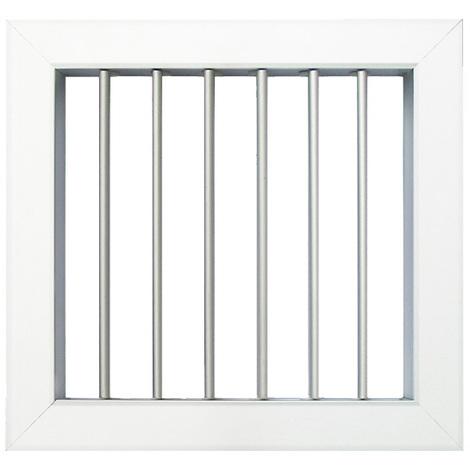 Grille ventilation 140x130mm - Blanc ou Aluminium