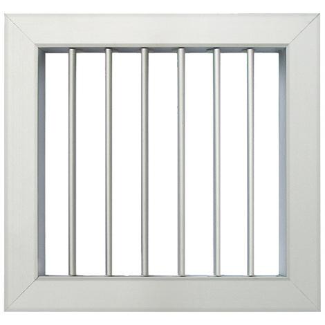 Grille ventilation 180x180mm - Aluminium - Ailettes avec ou sans rideau