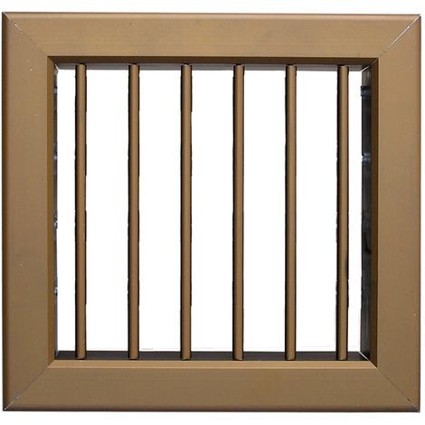 Grille ventilation 180x180mm - Bronze