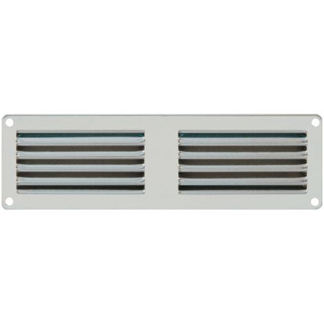 Grille ventilation 200x60mm Aluminium ou Inox