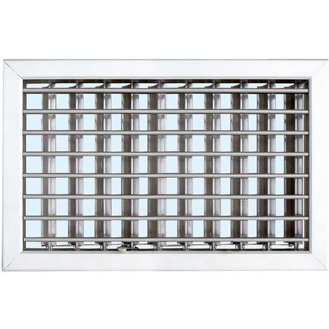 Grille ventilation 220x150mm - Aluminium / Blanc / Bronze