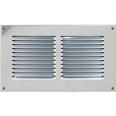 Grille ventilation 240x140mm Aluminium ou Inox