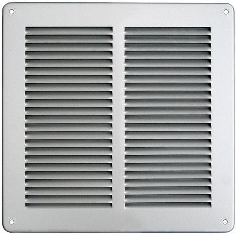 Grille ventilation 240x240mm Aluminium ou Inox