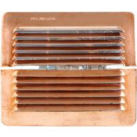 Grille ventilation cuivre à clipser IN OUT - 193x165mm - Ø trou de 100 à140mm