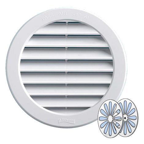 Grille ventilation PVC + fermeture