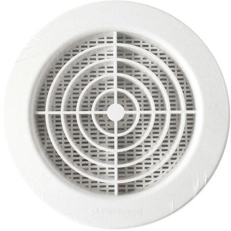 Grille ventilation PVC + fermeture + moustiquaire