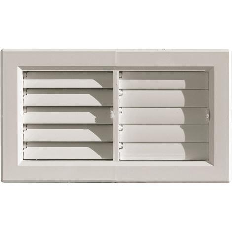 Grille ventilation PVC pour air chaud jusqu'à 120°