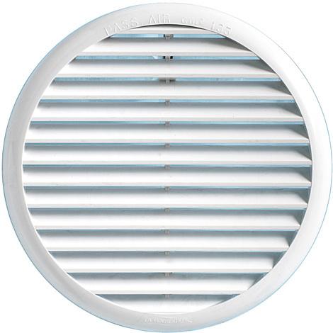 Grille ventilation PVC ronde à clipser