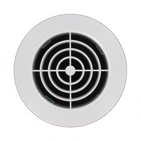 Grille ventilation PVC ronde à encastrer