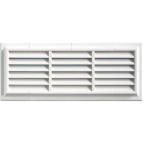 Grille ventilation PVC traditionnelle 140x340mm