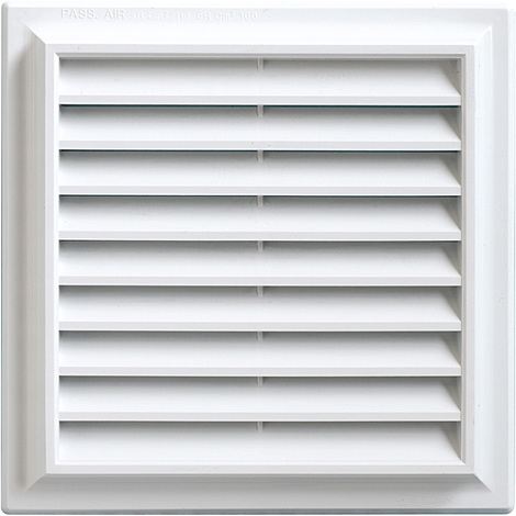 Grille ventilation PVC traditionnelle 189x189mm