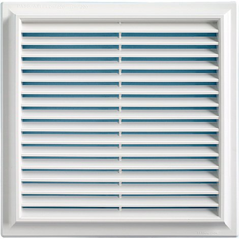 Grille ventilation PVC traditionnelle 240x240mm