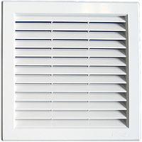 Grille ventilation PVC traditionnelle à encastrer 217x217mm
