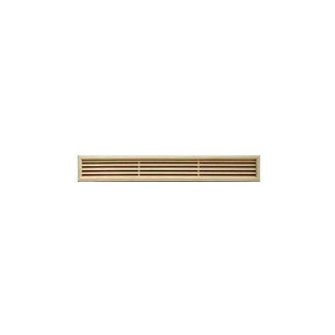 Grille ventilation rectangulaire bois à encastrer 100x550