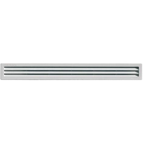 Grille ventilation rectangulaire PVC à encastrer - 60x515mm