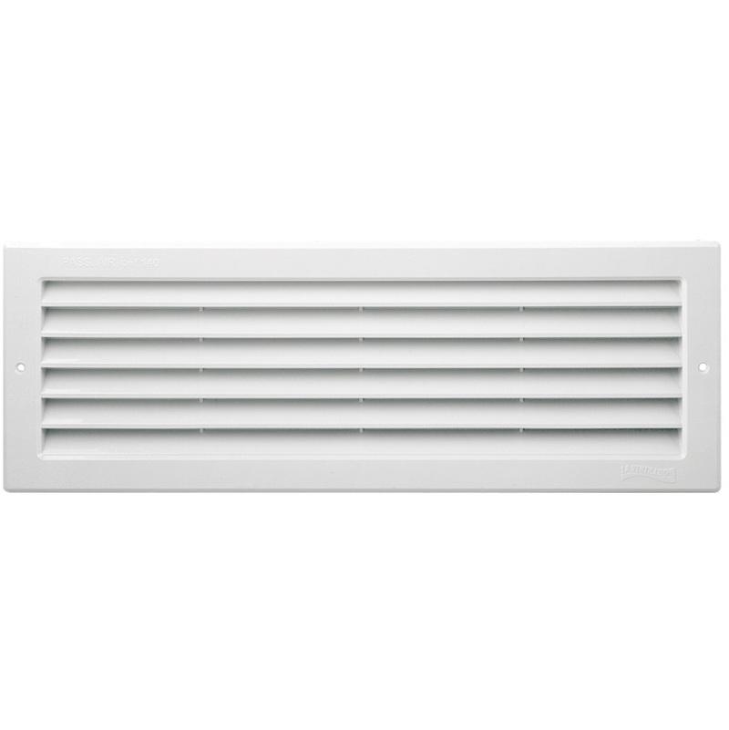 Blanc Grille 452x90mm pour portes et cloisons avec /épaisseur r/églable de 28 /à 40mm Grille de ventilation PVC