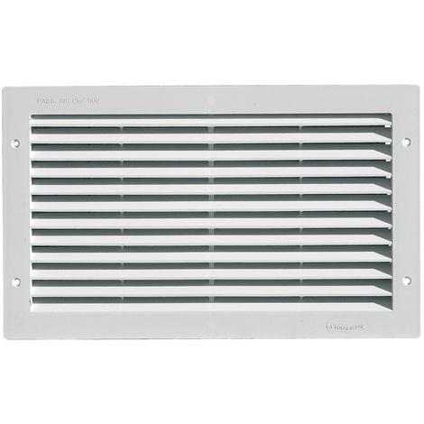 Grille ventilation rectangulaire PVC à encastrer