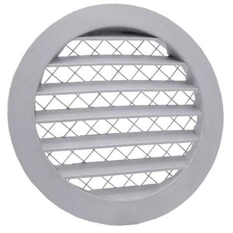 Grille ventilation ronde Ø350mm Ø315mm aluminium - anti-insectes