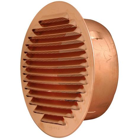Grille ventilation ronde à encastrer Cuivre